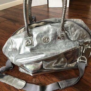 Lululemon Large Silver Duffle Bag
